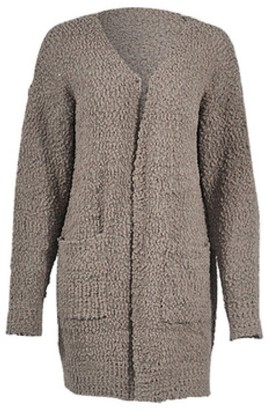 Goodnight Macaroon 'Kris' Soft Knit Open Front Long Cardigan with Pockets (4 Colors)