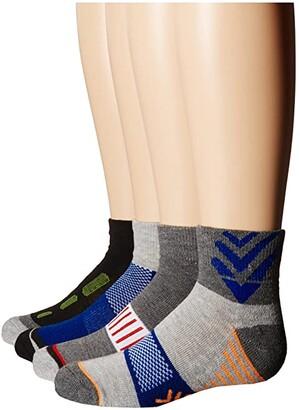 Jefferies Socks Tech Sport Half Cushion Quarter Socks 6-Pair Pack (Toddler/Little Kid/Big Kid/Adult) (Multi) Boys Shoes