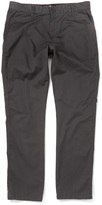 Micros Charcoal Slim Fit Flat Front Chino Pants - Boys