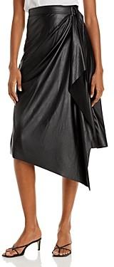 Ramy Brook Verna Faux Leather Wrap Skirt