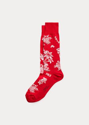 Ralph Lauren Polo Bear & Stripe Sock 2-Pack