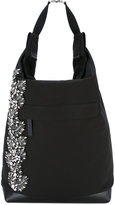 Marni embellished 'Runway' shoulder bag - women - Cotton/Calf Leather/Nylon/glass - One Size