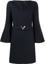 Valentino V pave belted dress