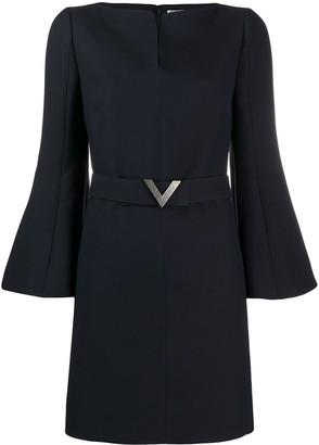 Valentino V pavé belted dress