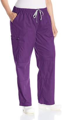Wonderwink WONDERWINK Women's Wonderwork Plus Size Straight Leg Cargo Scrub Pant