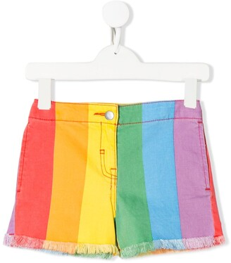 Stella McCartney Rainbow Denim Shorts