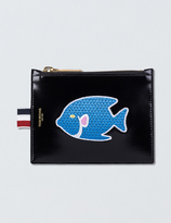 Thom Browne Calf Leather Embroidered Small Coin Purse (14.5cm)