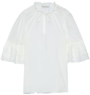 Alice + Olivia Julius Tiered Silk-chiffon Top