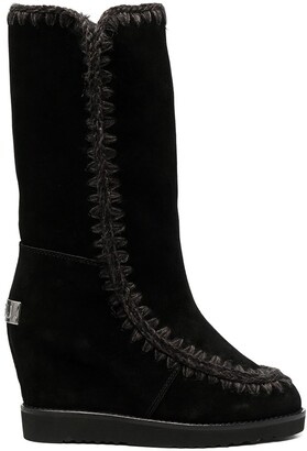 Mou Mid-Calf Slip-On Boots