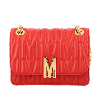 Moschino Crossbody Bags Shoulder Bag In Quilted Leather With Logo
