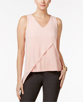 Cable & Gauge Mixed-Media Asymmetrical Top