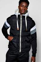 boohoo Padded Gilet With Jersey Hood