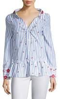 Alice + Olivia Ashlyn Embroidered Shirt