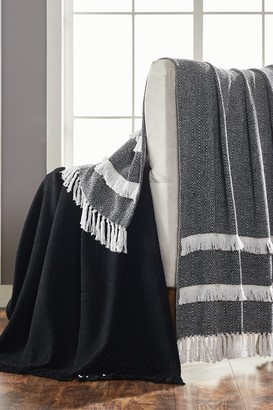 "Modern Threads 2-Pack 50"" x 60"" Throw Blanket - Black"