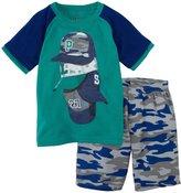 Petit Lem Baseball Fan 2 Piece Pajamas (Toddler/Kid) - Green-4