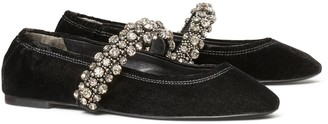 Tory Burch Crystal-Strap Ballet Flat