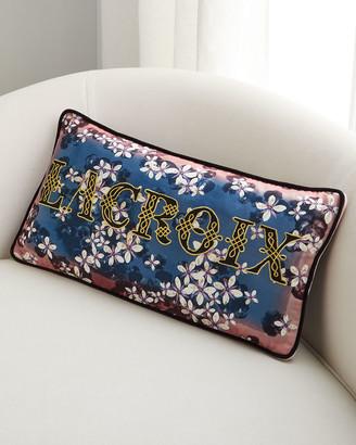 Christian Lacroix Lacroix Cherry Bleu Denim Pillow