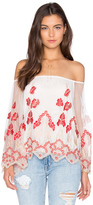 Alice + Olivia Priya Off the Shoulder Top