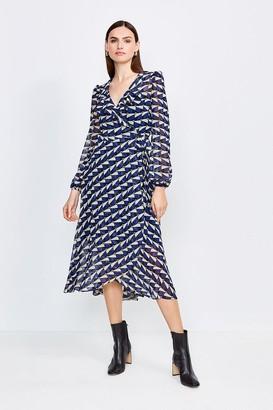 Karen Millen Geo Print Wrap Dress