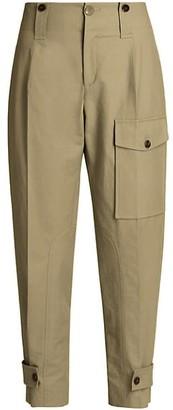Chloé Cotton Canvas Cargo Pants