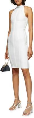 Topshop Funnel Bandage Bodycon Dress
