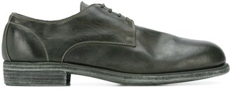 Guidi Contrast Stitching Derby Shoes