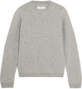 Maison Margiela Suede-paneled Wool Sweater - Gray
