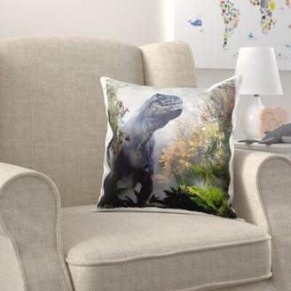 Zoomie Kids Egan The Tyranasaurus Rex Throw pillow