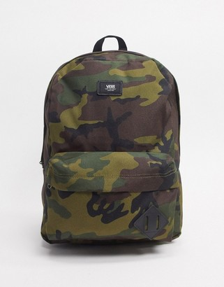 Vans Old Skool III backpack in khaki camo