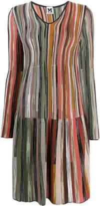 M Missoni knitted striped dress