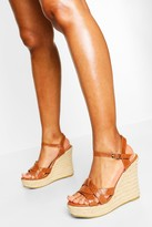 Thumbnail for your product : boohoo Twist Front Espadrille Wedges