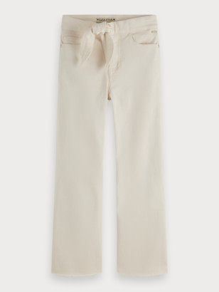 Scotch & Soda Off-White Wide Leg Jeans | Girls