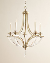 John-Richard Collection Bent 5-Light Crystal Chandelier
