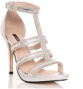 Quiz Jeweled T-bar Platform Heeled Sandal