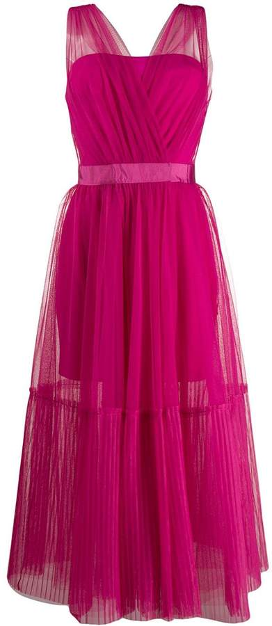 Pinko sheer tulle midi dress