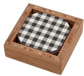 DENY Designs Gingham Set Of 4 Coasters