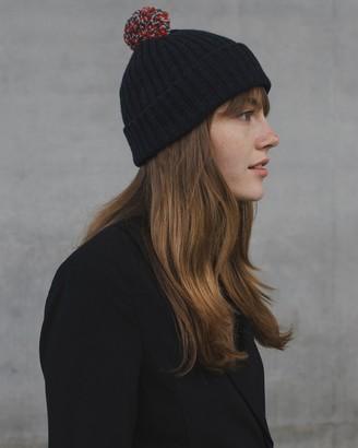 Seamless Ribbed Pom Hat