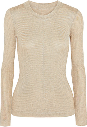 Emilio Pucci Metallic Knitted Sweater
