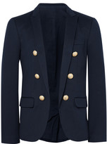 Balmain - Blue Slim-fit Cotton-jersey Blazer