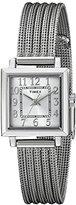 Timex Women's T2P4399J Main Street Modern Minis Silver-Tone Watch