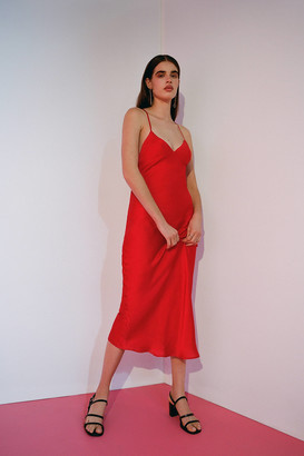 Urban Outfitters Romi Backless Midi Slip Dress
