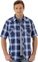 Wrangler Men's Western Two Pocket Snap Front Short Sleeve Woven Shirt