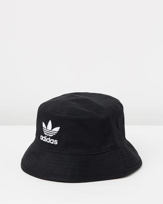 adidas Black Hats - Trefoil Adicolour Bucket Hat - Size One Size at The Iconic