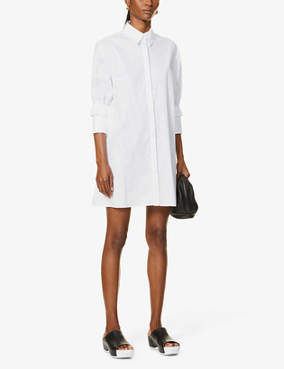 Victoria Victoria Beckham Ruffled organic-cotton mini dress