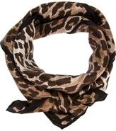 Dolce & Gabbana leopard print scarf