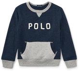 Ralph Lauren Lightweight Terry Two-Tone Graphic Sweatshirt, Size 2-4