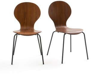La Redoute Interieurs Set of 2 Watford Stackable Chairs