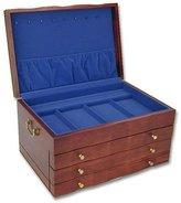 Reed & Barton ATHENA JEWELRY BOX - CHERRY/BLUE