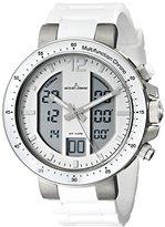 Jacques Lemans Men's 1-1726B Milano Analog-Digital Display Quartz White Watch