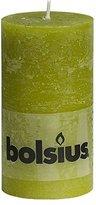 Rustic 103867590371 Pillar Candle, Paraffin Wax, Moss Green
